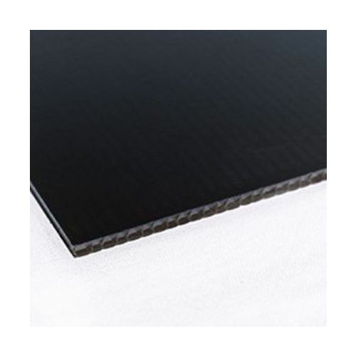 Black Plain Corrugated Plastic Boards (Box of 10) Image 1