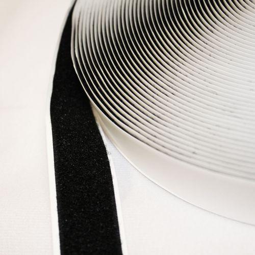Black Self-Adhesive Hook & Loop Strip Roll