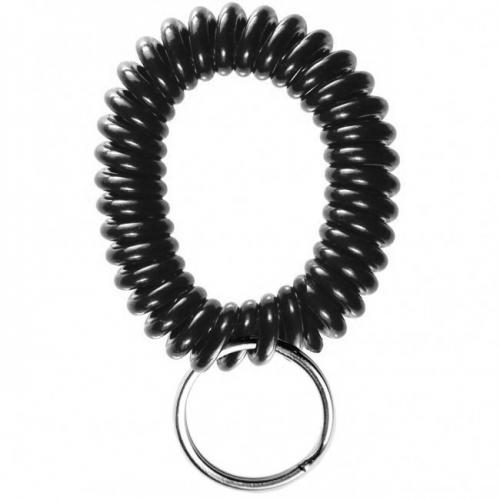 Black Wrist Coils with Split Ring (250/Pk) Item#09WRISTCLBK