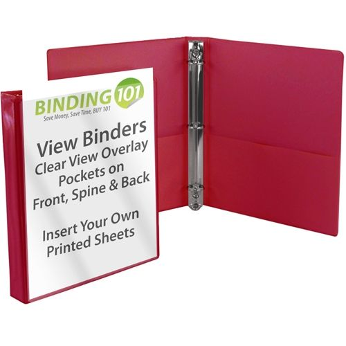 Burgundy Letter Size Standard View Binders [Round Ring] Image 1