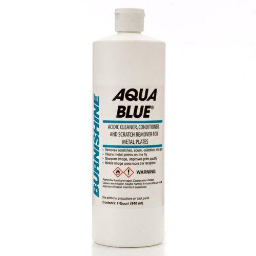 Burnishine Aqua Blue Metal Plate Acidic Cleaner/Conditioner/Scratch Remover Image 1