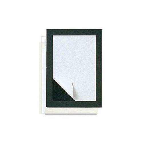 """5"""" x 7"""" Self-Stick Mat Boards [4"""" x 6"""" Print, Black] (10/Bx) Item#80PMB0406B"""