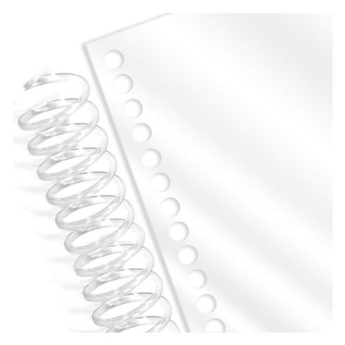 Spiral Binding Coil Pre-Punched Clear Gloss Covers (Pack of 100)