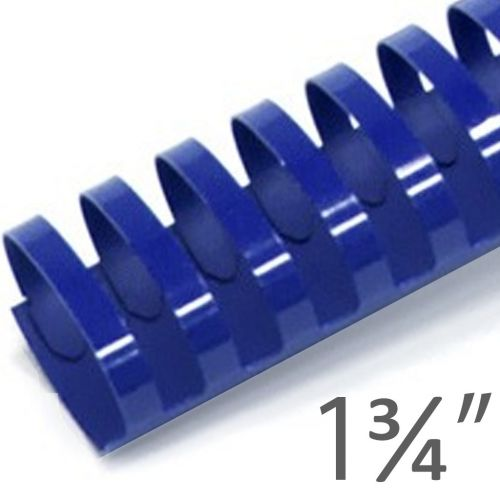 "1 ³/₄"" Blue Plastic Binding Combs (50/Bx) Item#13134BLUE"