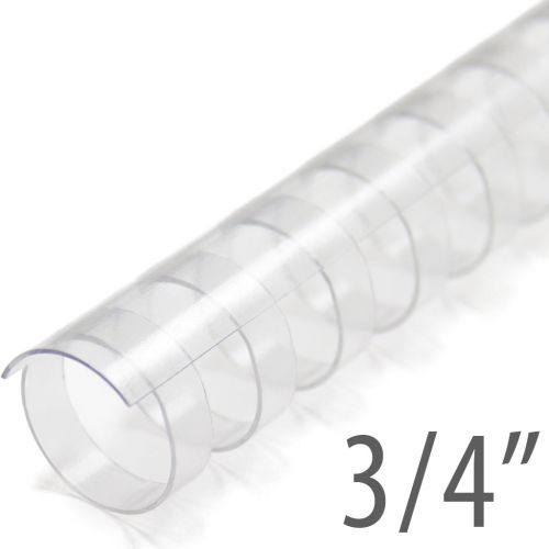 """3/4"""" Clear Plastic Binding Combs (100/Bx) Item#13034CLEAR"""