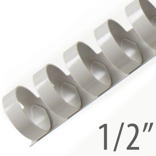 "1/2"" Gray Plastic Binding Combs (100/Bx) Item#13012GRAY"
