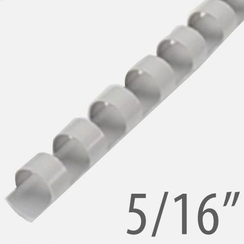 "5/16"" Gray Plastic Binding Combs (100/Bx) Item#13516GRAY"