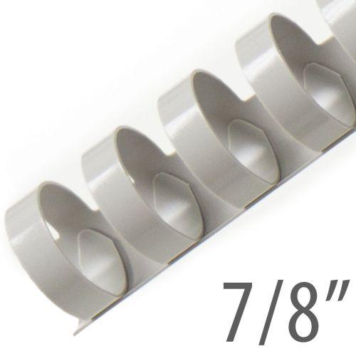 "7/8"" Gray Plastic Binding Combs (100/Bx) Item#13078GRAY"