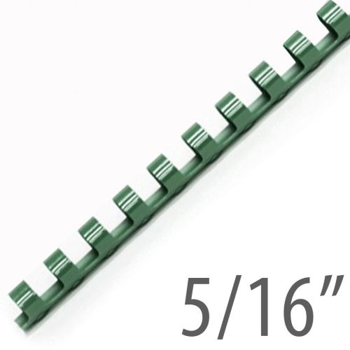 "5/16"" Hunter Green Plastic Binding Combs (100/Bx) Item#13516HUNTR"