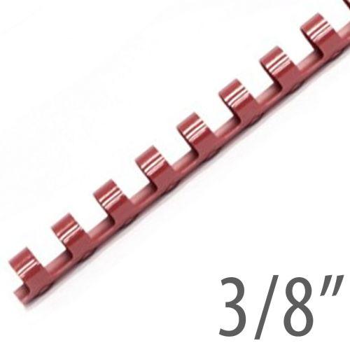 """3/8"""" Maroon Plastic Binding Combs (100/Bx) Item#13038MAROO"""
