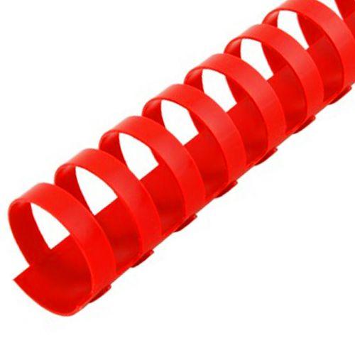 "1"" Red Plastic Binding Combs"