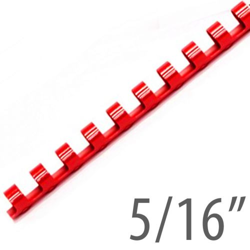 "5/16"" Red Plastic Binding Combs (100/Bx) Item#13516RED"