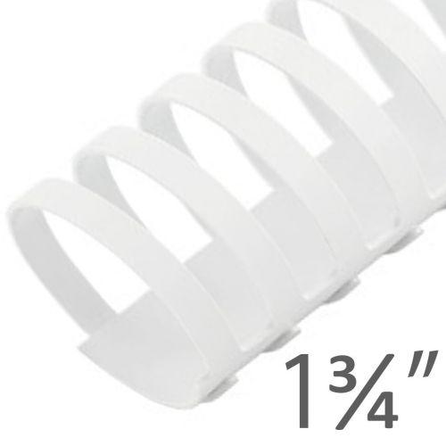 "1 ³/₄"" White Plastic Binding Combs (50/Bx) Item#13134WHITE"