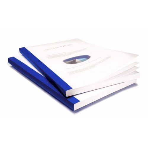 Coverbind Royal Blue Clear Linen Thermal Binding Covers Image 1