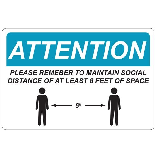 Social Distance Repositionable Signage - Pack of 5 Image 1