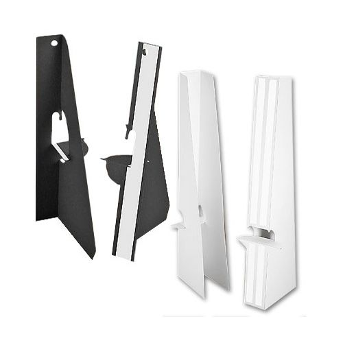 12 Inch Self Stick Easel Backs - Black and White - Single and Double-Wing