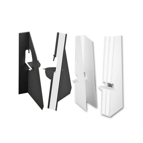7 Inch Self Stick Easel Backs - Black and White - Single and Double-Wing