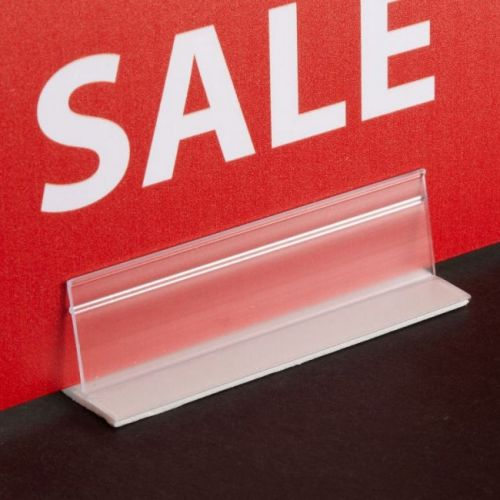 "6"" Economy Adhesive Sign Holder (10/pk) Item#88KI108586"