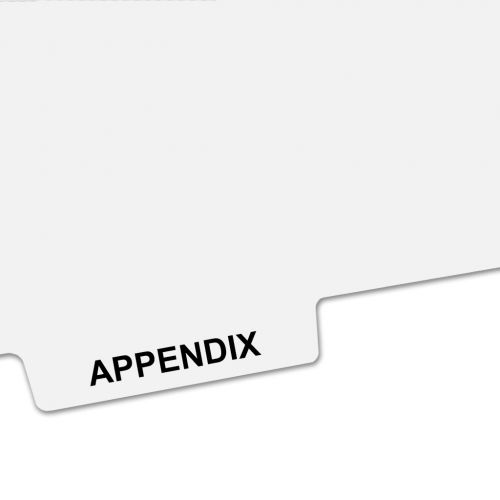 APPENDIX Bottom Avery Style Tabs - Legal Index Dividers