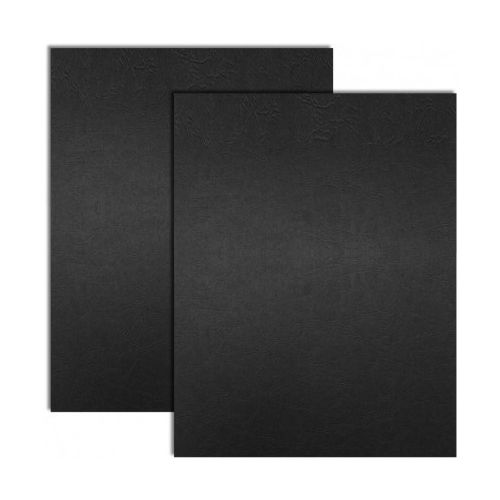 Black Embossed Grain Paper Covers (200 Covers / Pack) Image 1