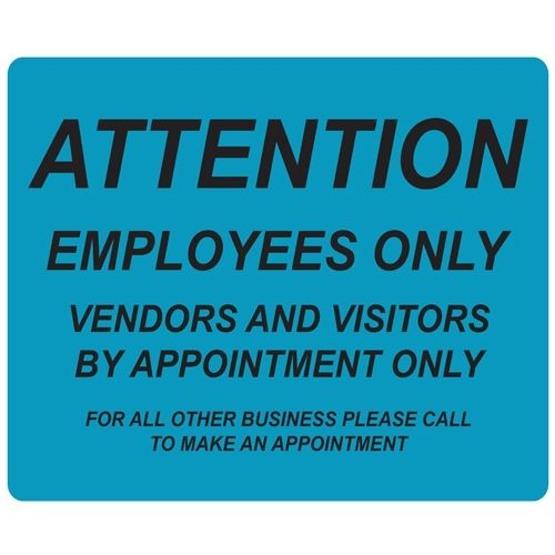 Employees Only Repositionable Signage - Pack of 5 Image 1