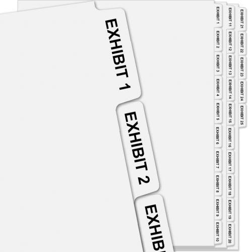 Exhibit Number Tabs, Set of EXHIBIT 1 to EXHIBIT 25 Avery Index Dividers