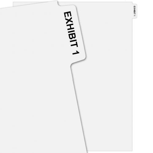 EXHIBIT 1 Uncollated Pre-Printed Avery Index Tab Dividers - Exhibit Number