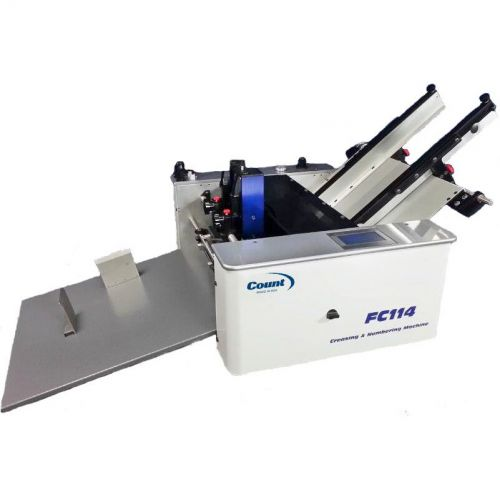 Count FC114 Creaser, Numbering, & Perforating Machine