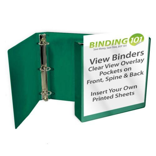 Forest Green Letter Size Standard View Binders [Round Ring] Image 1