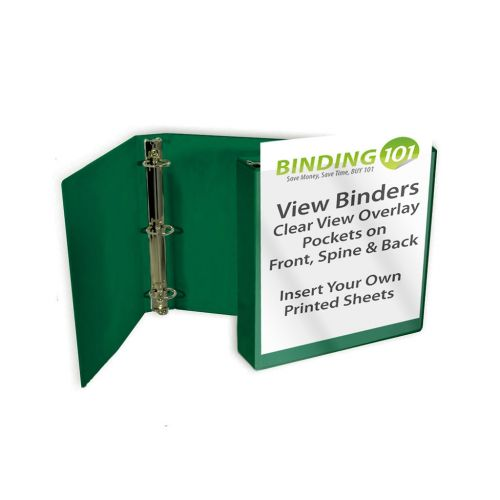 Forest Green Half Size View Binders