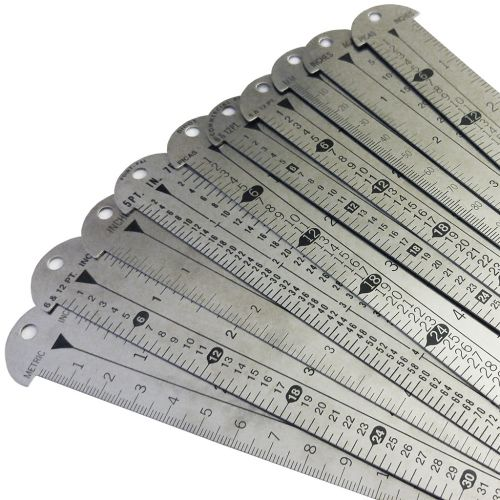 Style 612 Gaebel Line Gauges + Stainless Steel Rulers