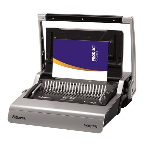 Fellowes Galaxy 500-Sheet Manual Comb Binding Machine - 5218201 Image 1