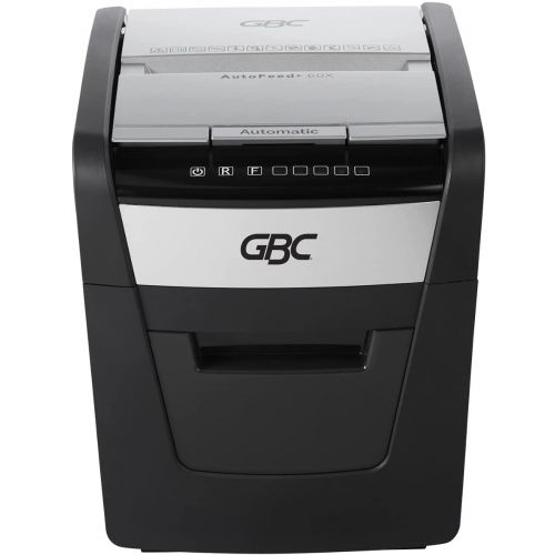 GBC Stack and Shred 60X AutoFeed P-4 Cross Cut Commercial Shredder - WSM1757601 Image 1
