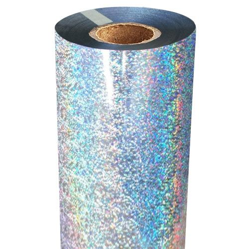 Silver Glitter Foil Fusing Roll Image 1
