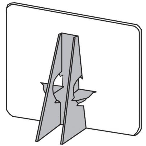 """15"""" Gray Glue-On Easel Back"""