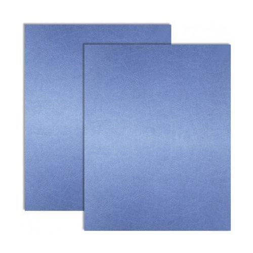 Bold Blue Embossed Grain Paper Covers (200 Covers / Pack) Image 1