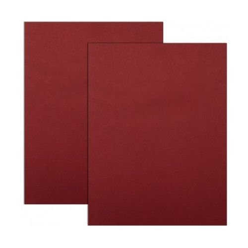 Red Embossed Grain Paper Covers (200 Covers / Pack) Image 1