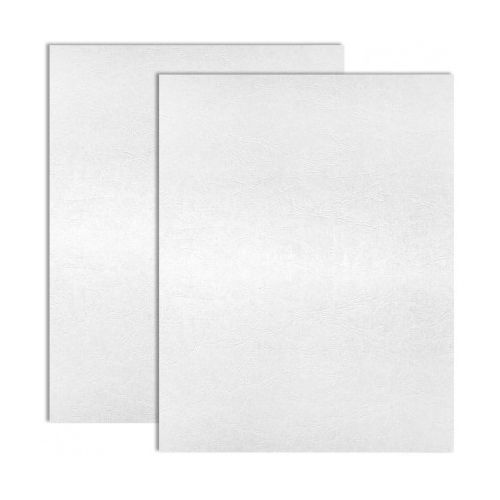 White Embossed Grain Paper Covers (200 Covers / Pack) Image 1