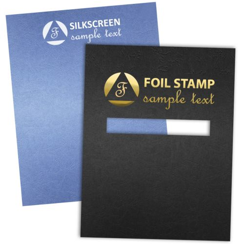 Custom Embossed Grain Report Covers with Foil Stamp and Silkscreen