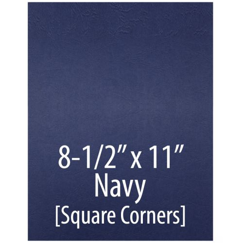 """Embossed Grain Report Covers [8 ½"""" x 11"""", No Window, Square Corners, Unpunched, Navy] (200/Pack) Item#030203NAAA"""