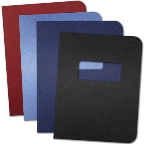 Embossed Grain Paper Report Covers with Windows