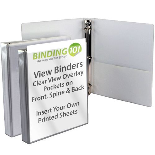 Gray + Silver Letter Size View Binders (Box of 60)