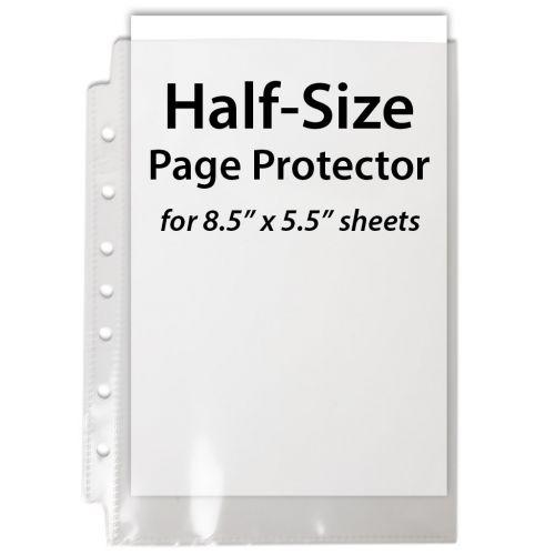 Half Size Sheet Protectors, Mini Page Protectors