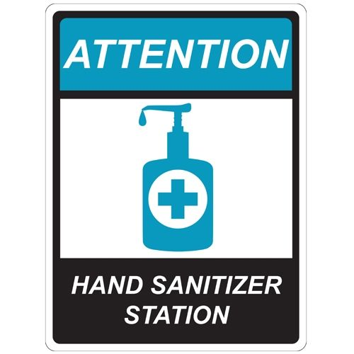 Hand Sanitizer Station Repositionable Signage - Pack of 5 Image 1