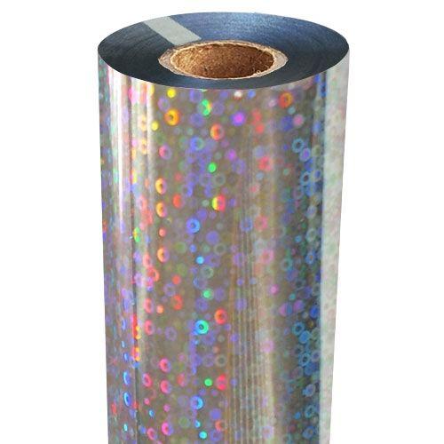 Bubbles Holographic Foil Fusing Rolls [Silver Underlay]