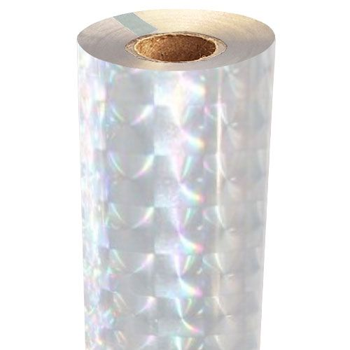 Checkerboard Holographic Foil Fusing Rolls [Transparent Underlay] Image 1