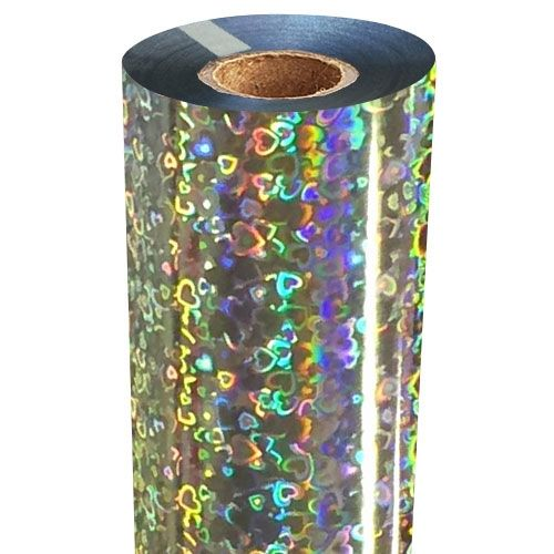 Hearts Holographic Foil Fusing Roll Image 1
