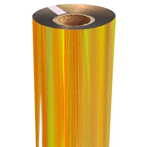 Gold Rainbow Iridescent Foil Fusing Rolls Image 1