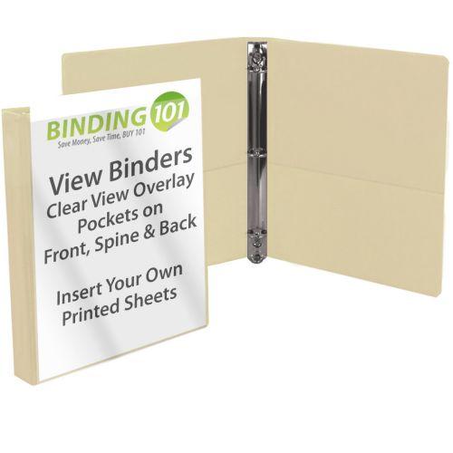 "1/2"" Ivory View Binder (Each-60 Minimum Order Requirement)"