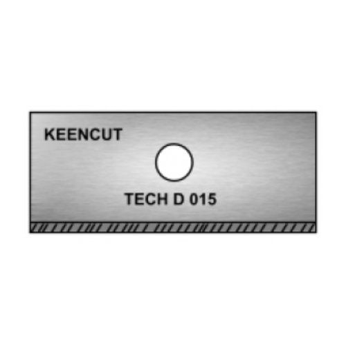 Keencut Tech D .015 Bevel Blades (100/Pk) Image 1